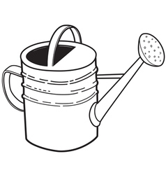 Large garden watering can vector