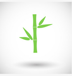 bamboo flat icon vector image