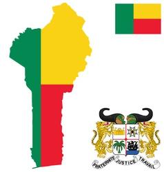 Benin Flag vector image vector image