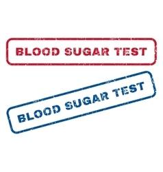 Blood sugar test rubber stamps vector