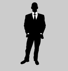 business man black and white vector image