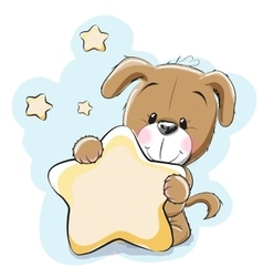 Dog with star vector