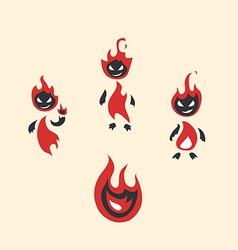 Fiery monsters vector
