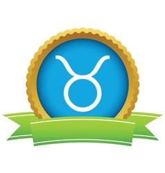 Gold Taurus logo vector image