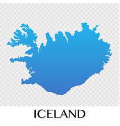 Iceland map in europe continent design vector