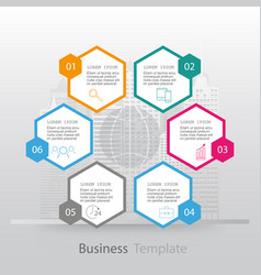 infographics six options vector image vector image