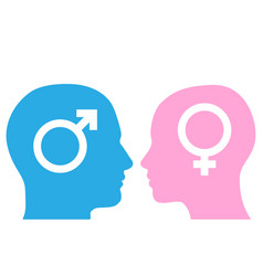 Man and woman facing each other vector