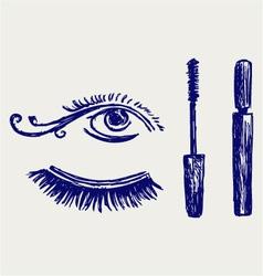 Mascara vector image vector image