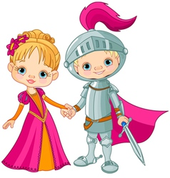 Medieval Boy and Girl vector image vector image