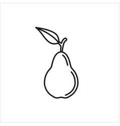 pear simple icon on white background vector image vector image