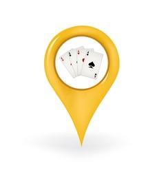 Poker location vector