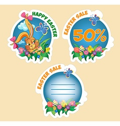 Price sticker with text easter sale vector