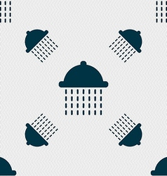 Shower icon sign seamless pattern with geometric vector