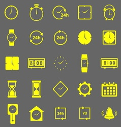 Time color icons on gray background vector image vector image