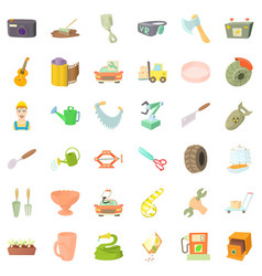 Tool for craft icons set cartoon style vector