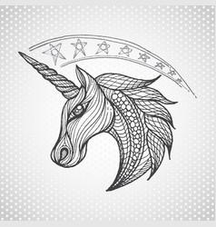 Unicorn icon vector