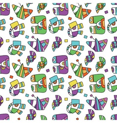 Seamless pattern with fantastic things vector
