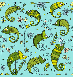 Chameleon collection seamless pattern for your vector