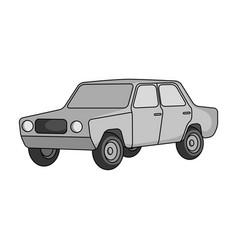 Old carcar single icon in monochrome style vector