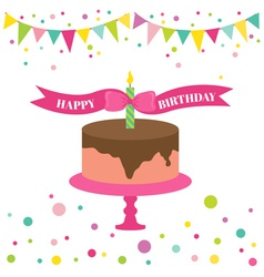 Happy Birthday and Party Card vector image