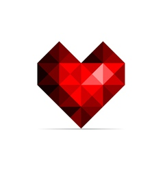 Red heart vector