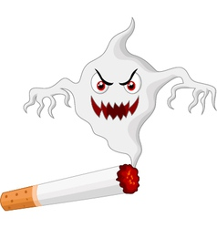 Cigarette with monster in smoke vector