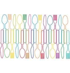 Cutlery background color vector