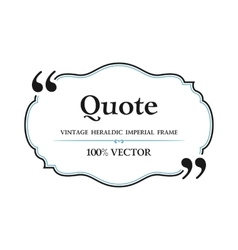 Vintage quote blank with text bubble box balloon vector