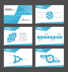 Blue abstract presentation templates infographic vector