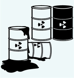 Metal containers for storage of toxic substances vector