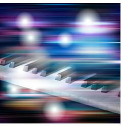Abstract blue white music background with piano vector