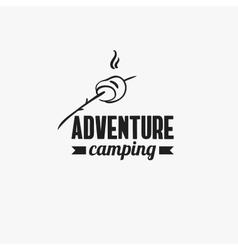 Adventure camping badge vector