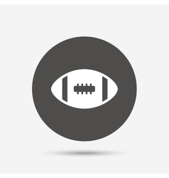 American football sign icon Team sport game vector image