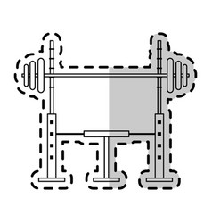 Barbell weights icon image vector
