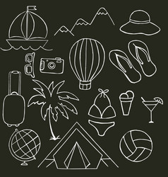 black and white on the theme of summer holidays vector image