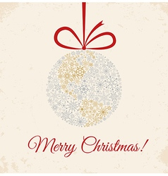 Christmas ball on beige background vector image vector image