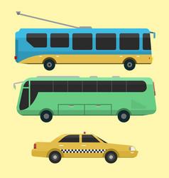 city transport public industry flat vector image vector image
