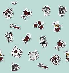 Coffee concept icons pattern vector