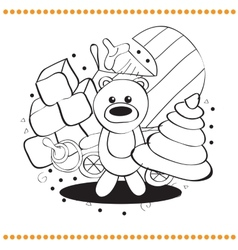 Coloring book toys vector