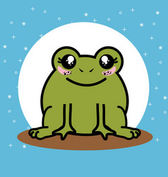 Cute and lovely frog cartoon vector