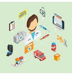 Doctor Isometric Set vector image vector image
