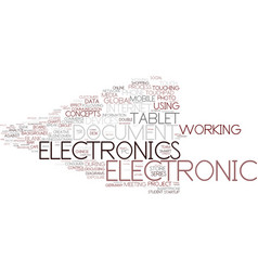 Electronic business word cloud concept vector