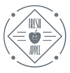fresh apple logo vintage style vector image vector image