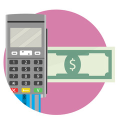 Icon of electronic money transfer application vector