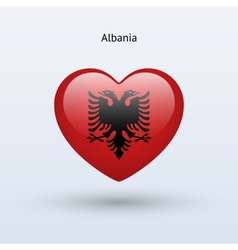 Love albania symbol heart flag icon vector