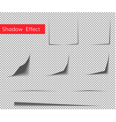 Paper curl shadow effect vector