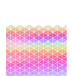 Pastel colored triangular background with copy vector
