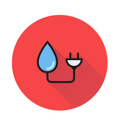 Pictograph hydro-electric icon vector