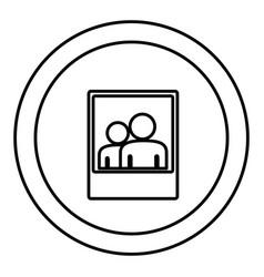 Round symbol digital phography people icon vector