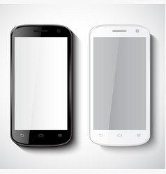 smartphones on white background vector image vector image